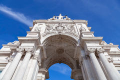 Looking up at the iconic Augusta Street Triumphal Arch Stock Photos