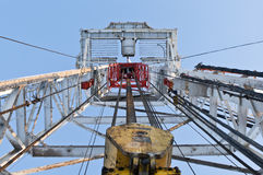 Looking up inside the derrick Royalty Free Stock Photography