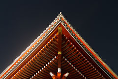 Looking up at a Japanese Temple roof. The roof of a Japanese Temple from below Royalty Free Stock Photos