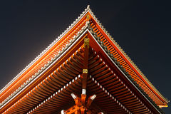 Looking up at a Japanese Temple roof. The roof of a Japanese Temple from below Royalty Free Stock Photo