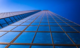 Looking up at the John Hancock Building, in Boston, Massachusett. S Royalty Free Stock Photo