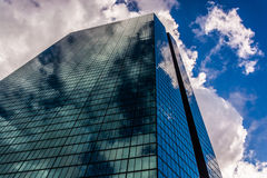 Looking up at the John Hancock Building in Boston, Massachusetts Royalty Free Stock Images