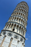 Looking up at the Leaning Tower of Pisa Royalty Free Stock Images