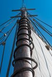 Looking Up the Main Sail Royalty Free Stock Photography