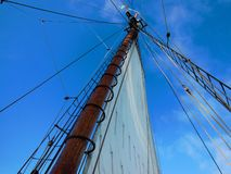 Worm's Eye View Of A Sailboat stock images