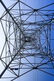 Looking up metal electricity pylon Stock Photos