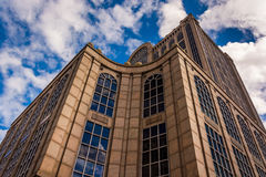 Looking up at  a modern building in Boston, Massachusetts. Stock Photography