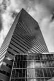 Looking up at a modern building in Boston, Massachusetts. Royalty Free Stock Image