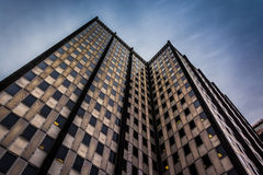 Looking up at a modern building in downtown Philadelphia, Pennsy Royalty Free Stock Photography