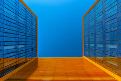 Looking up at modern business building Royalty Free Stock Photography