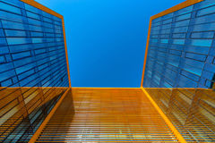 Looking up at the modern business building Stock Photos