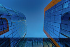 Looking up at the modern business building Royalty Free Stock Image