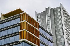 Tall Office Buildings at Olympic Park, Sydney, Australia stock images