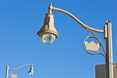 Looking up at new street lights Royalty Free Stock Image