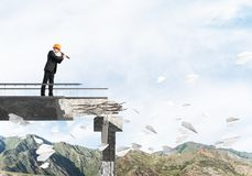 Looking up for new ways of problems solution. Stock Image