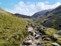 Looking up the path in Grains, Lake District Royalty Free Stock Photos