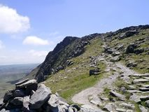 Looking up popular path to Dow Crag Stock Photography