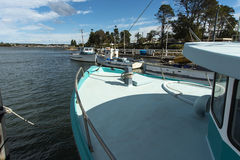 Looking up river from Greenwell Point Culburra Beach Royalty Free Stock Photos