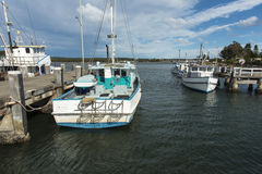 Looking up river from Greenwell Point Wharf Stock Photography