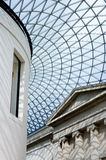 Looking up at roof of the great courtyard, British Museum, Londo Stock Photography