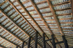 Looking Up at  Roof from Inside. Typical roof at the ancient building Royalty Free Stock Photos