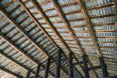 Looking Up at  Roof from Inside. Typical roof at the ancient building Royalty Free Stock Images