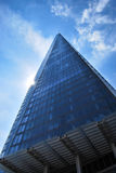 Looking up at the Shard of London against blue sky Royalty Free Stock Photography