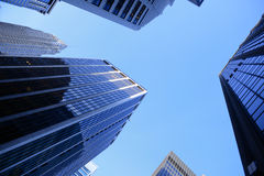 Looking up a skyscraper office block Royalty Free Stock Images