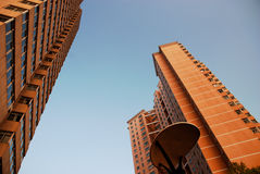 Looking up. Some building in Nanchang, China Stock Images