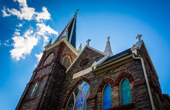 Looking up at St. Peter's Roman Catholic Church, in Harper's Fer Royalty Free Stock Photo
