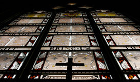Looking up the Stainglass Window Royalty Free Stock Photos