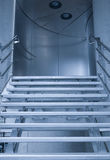 Looking Up Stairs to Next Floor in Modern Building Royalty Free Stock Image