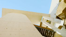 The side of the Air Pier in Albufeira version 1 stock images