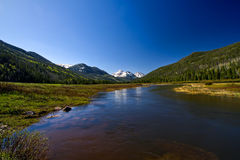 Looking up stream of the Bear River. The bear river is located in the Uinta mountains of Utah Royalty Free Stock Photography