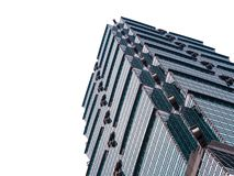 Looking up Taipei 101 Taipei World Financial Center a landmark supertall skyscraper in Xinyi District. royalty free stock image