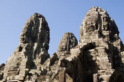 Looking up to Bayon Temple, Cambodia Stock Photography