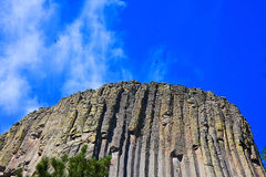 Looking Up To Devil's Tower Royalty Free Stock Photography