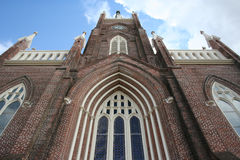 Looking up to heaven. Looking up at the top of a chapel Royalty Free Stock Photo