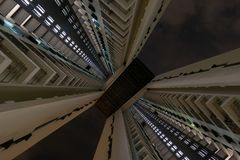 Looking up to the Pinnacle in Singapore royalty free stock photography