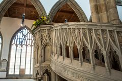 Free Looking Up To Pulpit Hull Minster Royalty Free Stock Photography - 120299827