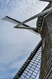 Looking Up to the Sky through a Dutch Windmill stock image
