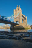 Looking up to Tower Bridge London Royalty Free Stock Photography