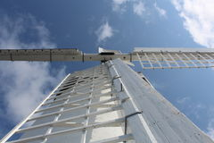 Looking up to windmill. Blenneville Windmill in county Kerry Ireland Royalty Free Stock Images
