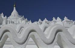 Beautiful White Hsinbyuma Pagoda royalty free stock photos