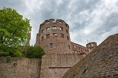 Looking Up at Tower Ruin of Heidelberg Castle Royalty Free Stock Photos