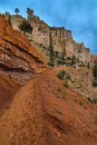 Looking up the Trail Bryce Canyon Peek-a-boo Royalty Free Stock Images