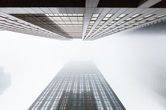 Looking up two highrise skyscapers in Toronto, Canada Stock Images