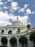 Looking Up at the U.S. Capitol. A view from below at the U.S. Capitol building in Washington, D.C Stock Image