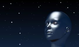 Looking up at universe Stock Photography