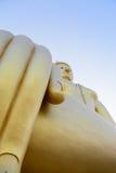 Looking up view of the Big Golden Buddha at Wat Muang, Ang Thong, Thailand Royalty Free Stock Photo